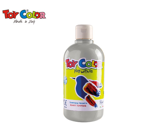 TOY COLOR ΤΕΜΠΕΡΑ 500ml SUPERWASHABLE SILVER