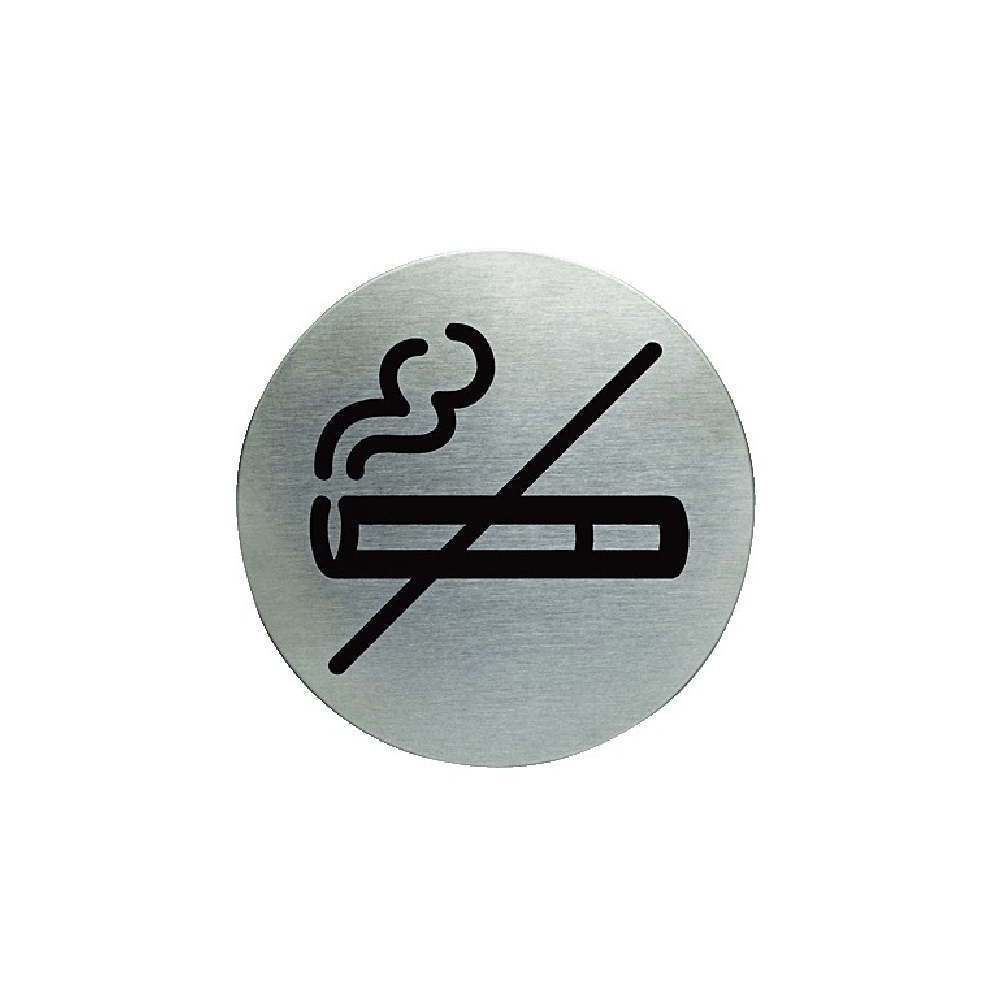 Πινακίδα inox Durable Picto 49111/23 No smoking