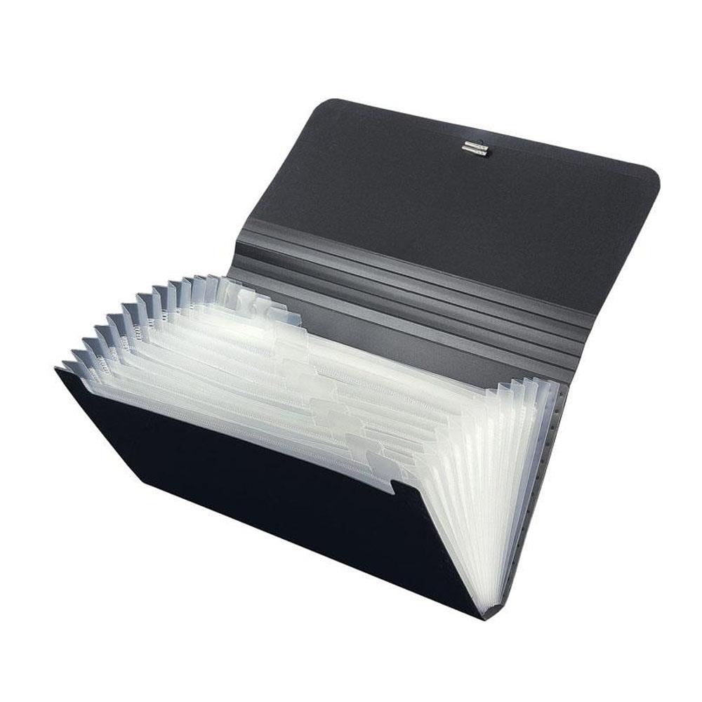 Γραμματιοθήκη 13x26 cm Premium 13θ μαύρη