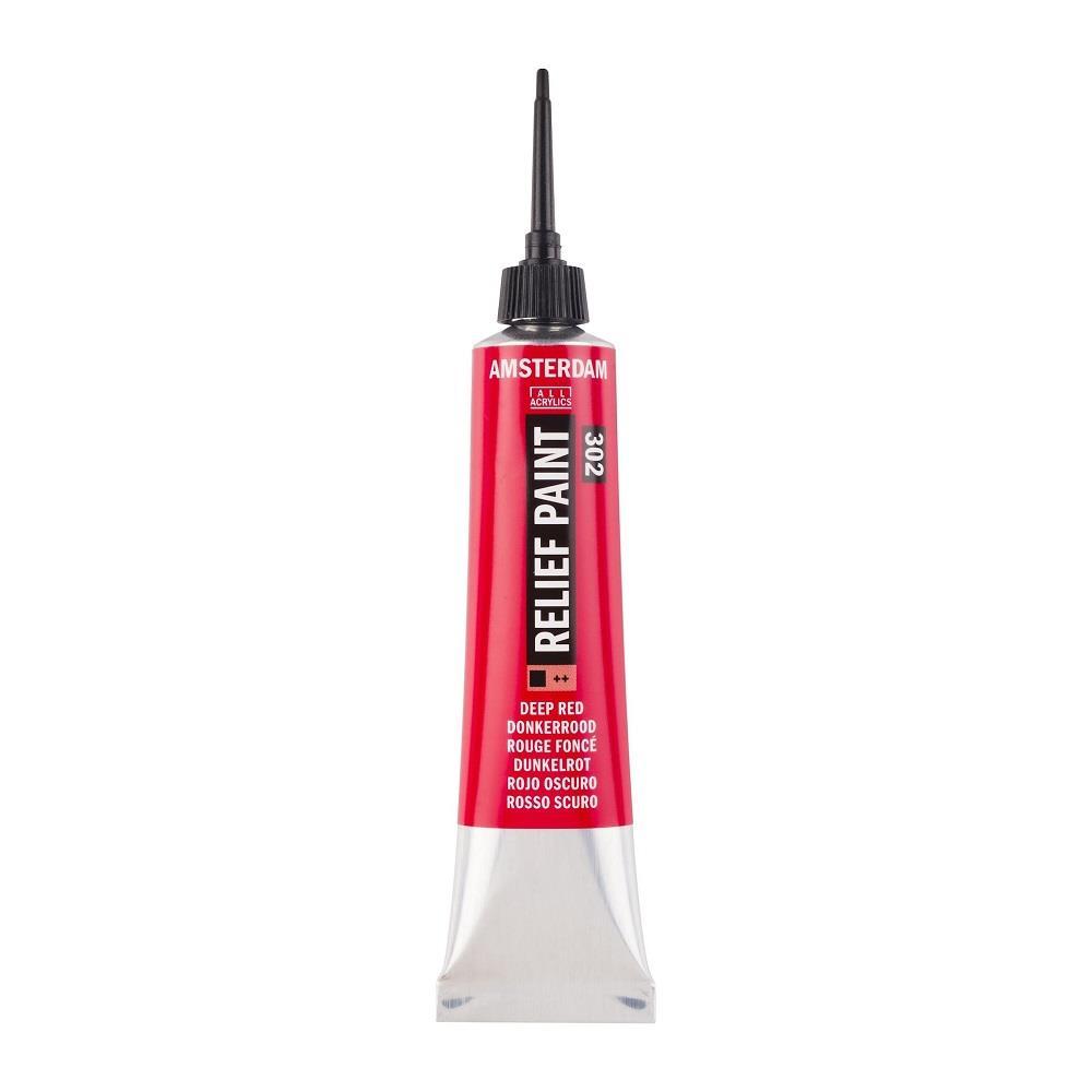 Περίγραμμα Relief Amsterdam 20 ml 302 κόκκινο