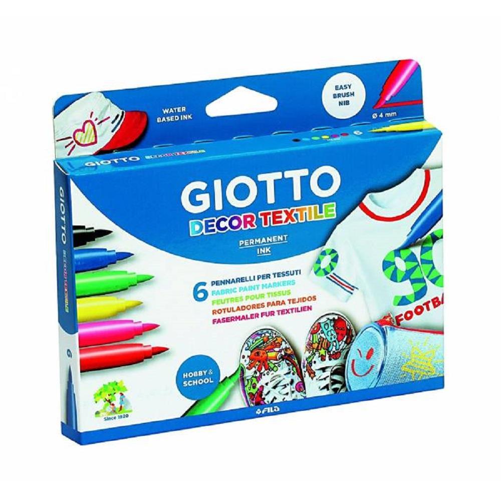 Μαρκαδόροι Giotto decor Textile 6 τεμ 494800