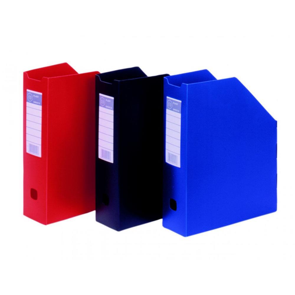 Θήκη περιοδικών πλαστική Φ plast κόκκινη