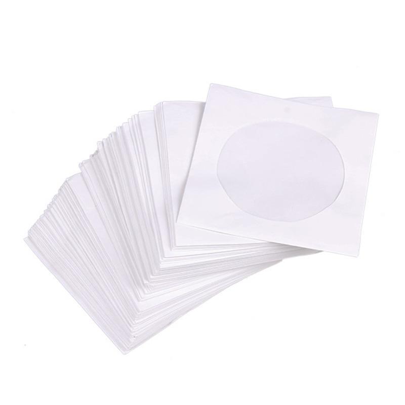 Φάκελα CD χάρτινα με παράθυρο 50 τεμ