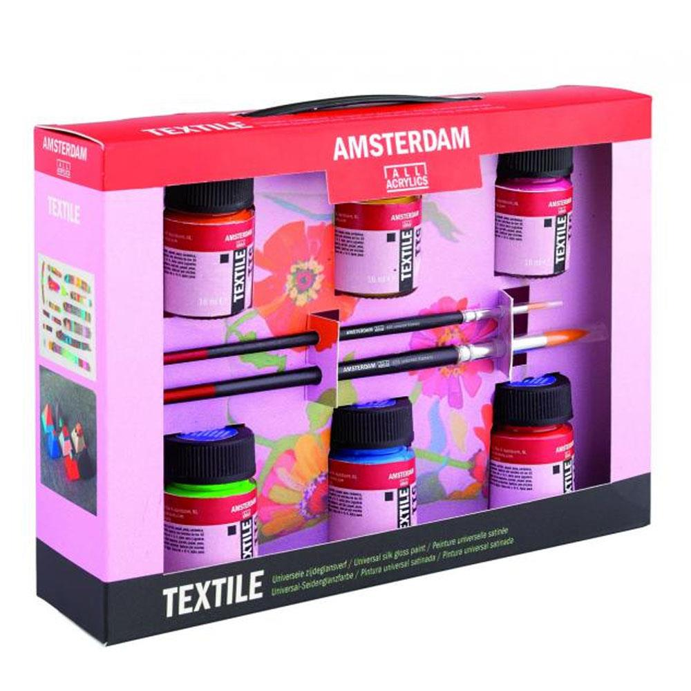 Σετ Amsterdam Textile 6x16ml Talens ύφασμα