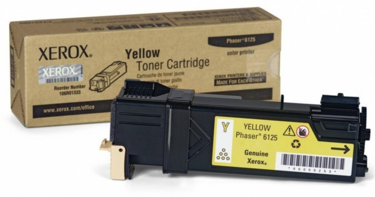Toner Xerox Phaser 6125 yellow 106R01333