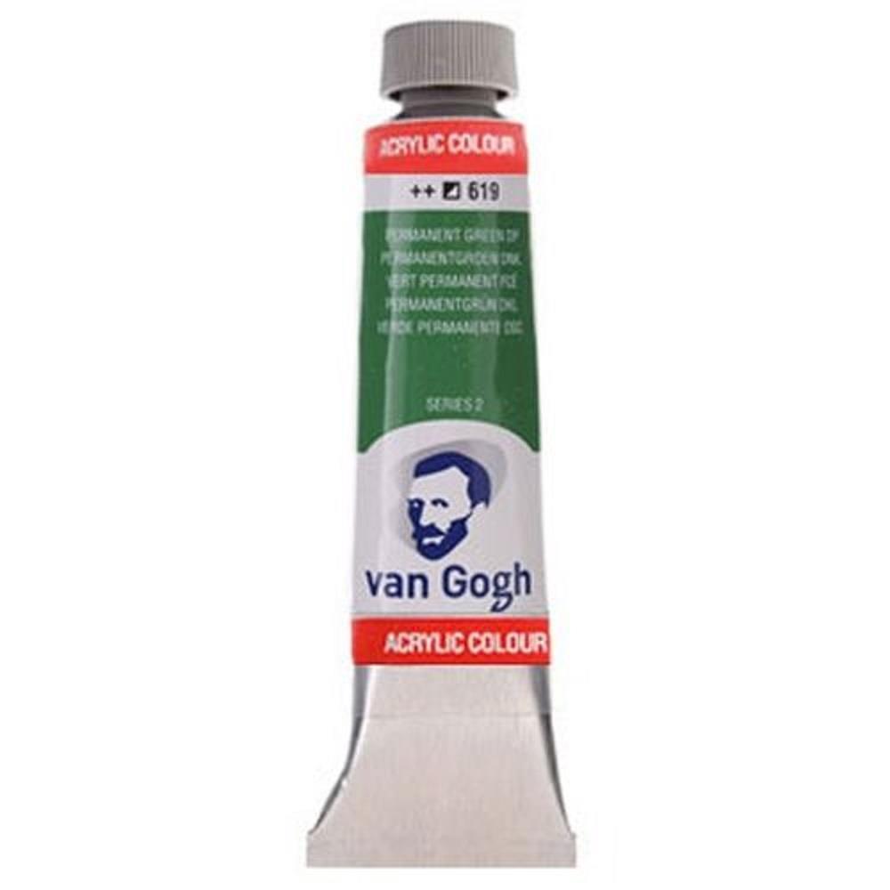 Ακρυλικό Talens Van Gogh 40 ml 619 perm.green deep