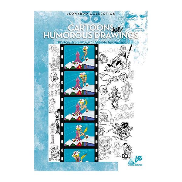 Βιβλίο ζωγραφικής Leonardo 38 cartoons and humorous drawings