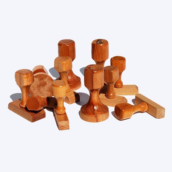 Σφραγίδα ξύλινη μεγάλη ανά τετρ.εκατοστό