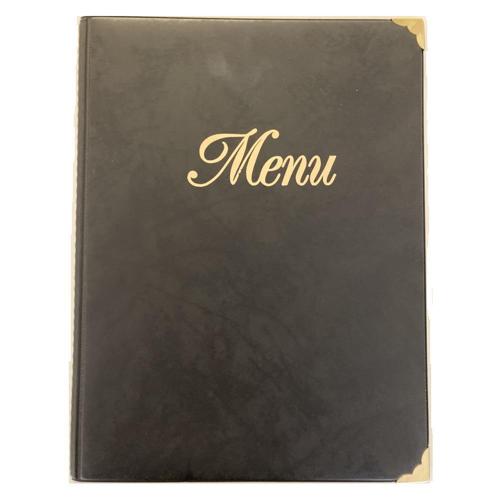 Κατάλογος εστιατορίου Α4 8 φύλλα μαύρο μενού