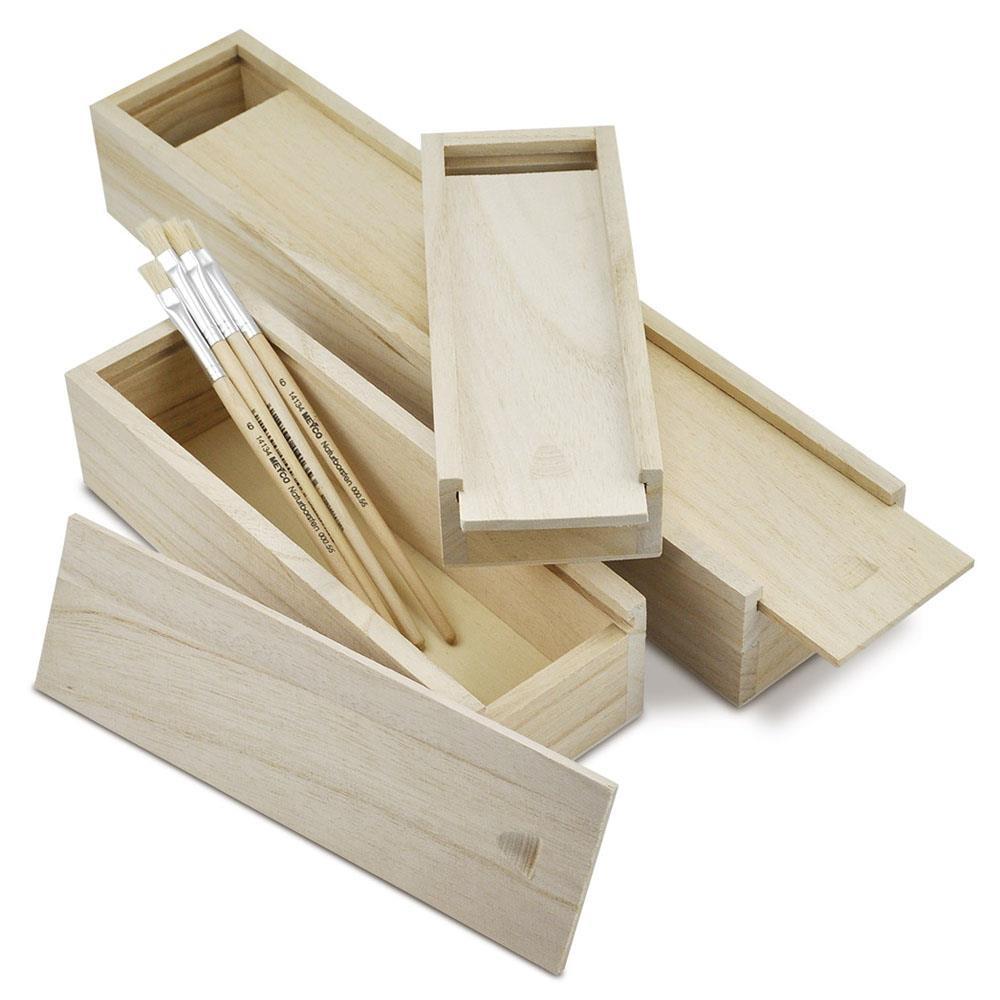 Κουτί ξύλινο Meyco συρόμενο 33x7x5 cm πινελοθήκη 34692