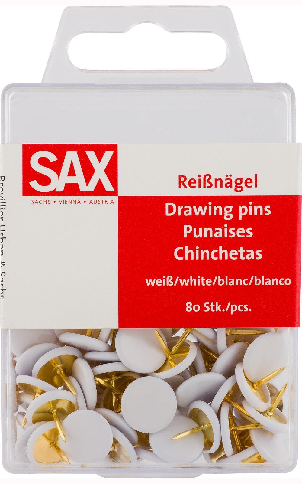 Πινέζες Sax λευκές 80 τεμ
