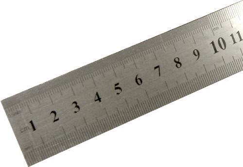 Χάρακας διδασκαλίας ατσάλινος 1 μέτρου