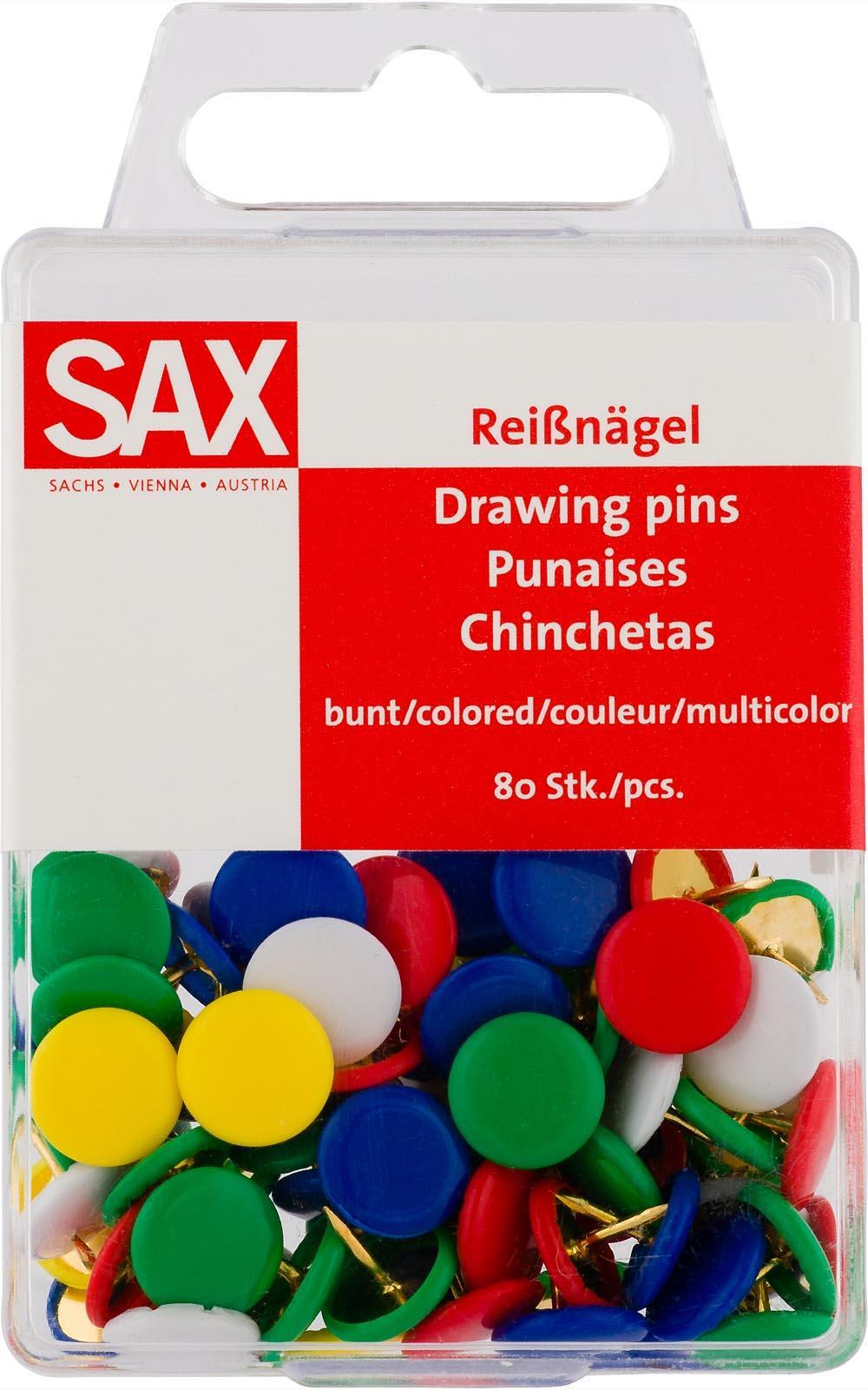 Πινέζες Sax πολύχρωμες 80 τεμ