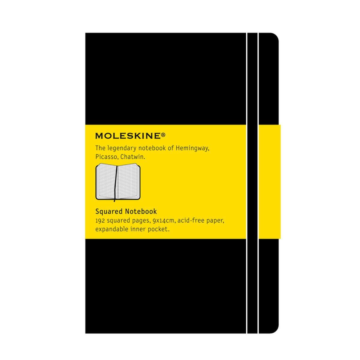 Σημειωματάριο Moleskine pocket black squared