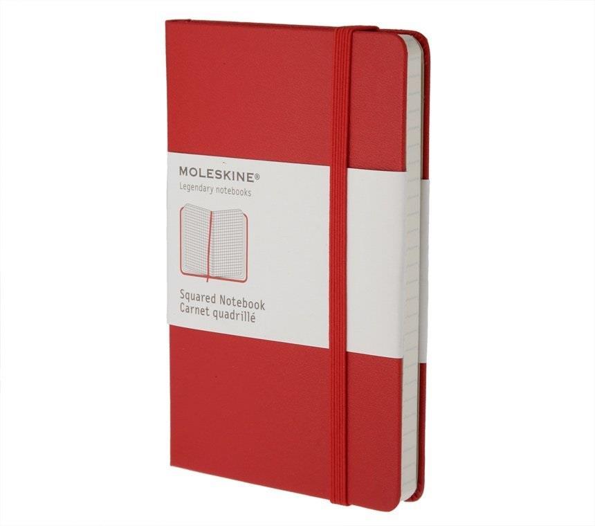 Σημειωματάριο Moleskine large red squared