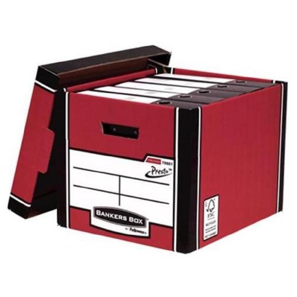 Κουτί αποθήκευσης Fellowes κόκκινο 7260701 Tall Box