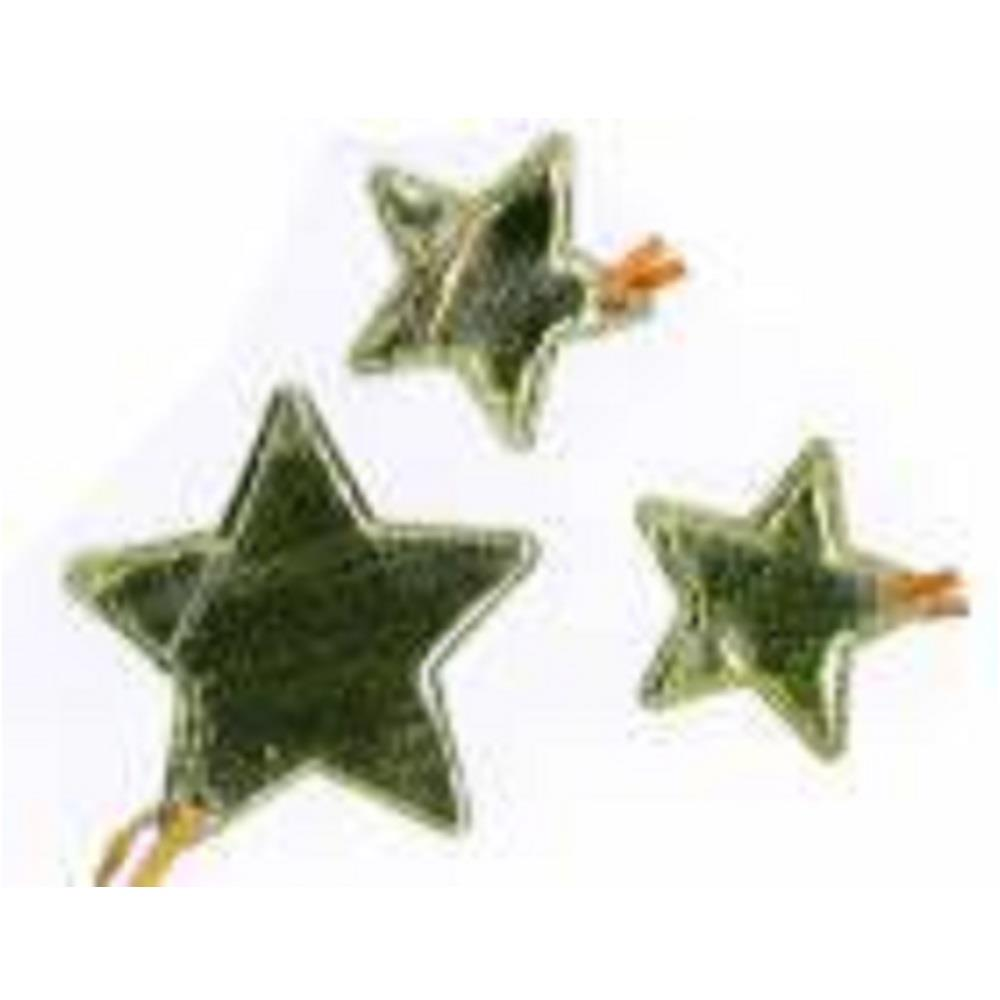 Αστέρια χρυσά Efco υφασμάτινα σετ 12 τεμ.