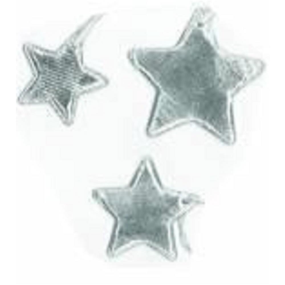 Αστέρια ασημί Efco υφασμάτινα σετ 12 τεμ.