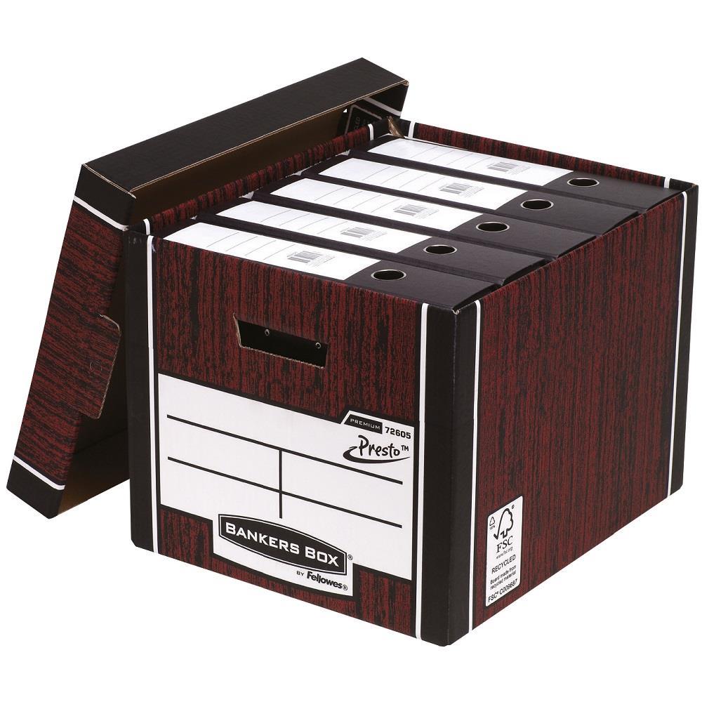Κουτί αποθήκευσης Fellowes καφέ 7260501 Tall Box