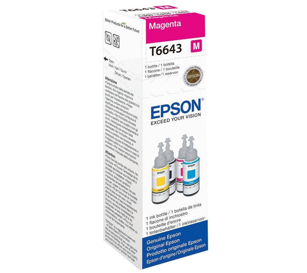 Μελάνι Epson Bottle T6643 magenta
