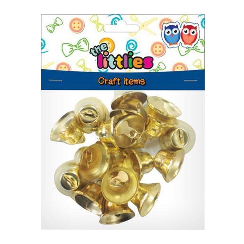 Καμπανάκια χρυσά 20mm The Littlies 18 τεμ.