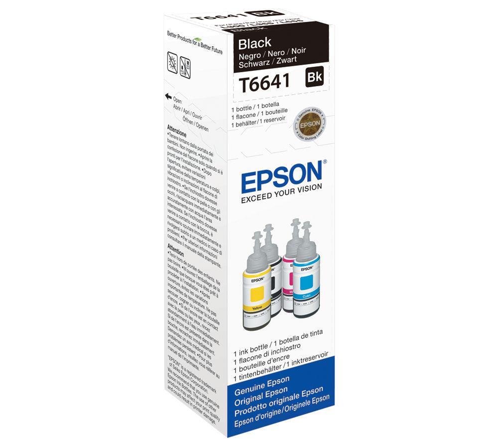 Μελάνι Epson Bottle T6641 black