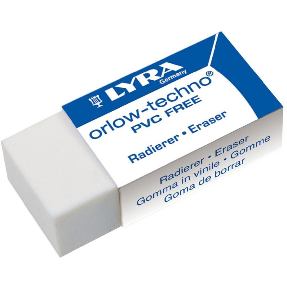Γόμα Lyra λευκή μεσαία 48x18x11mm