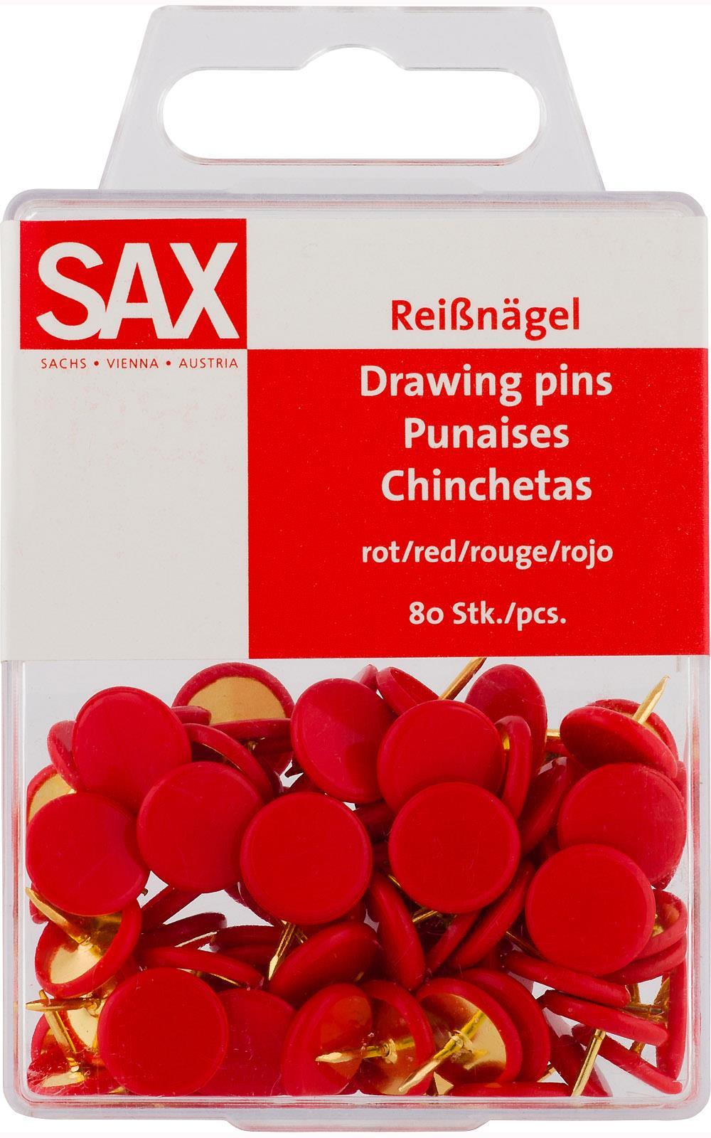 Πινέζες Sax κόκκινες 80 τεμ