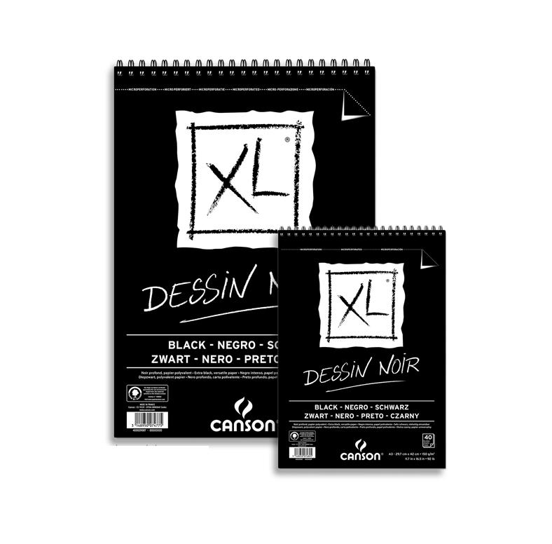 Μπλοκ Canson XL Α4 40 φύλλα μαύρα
