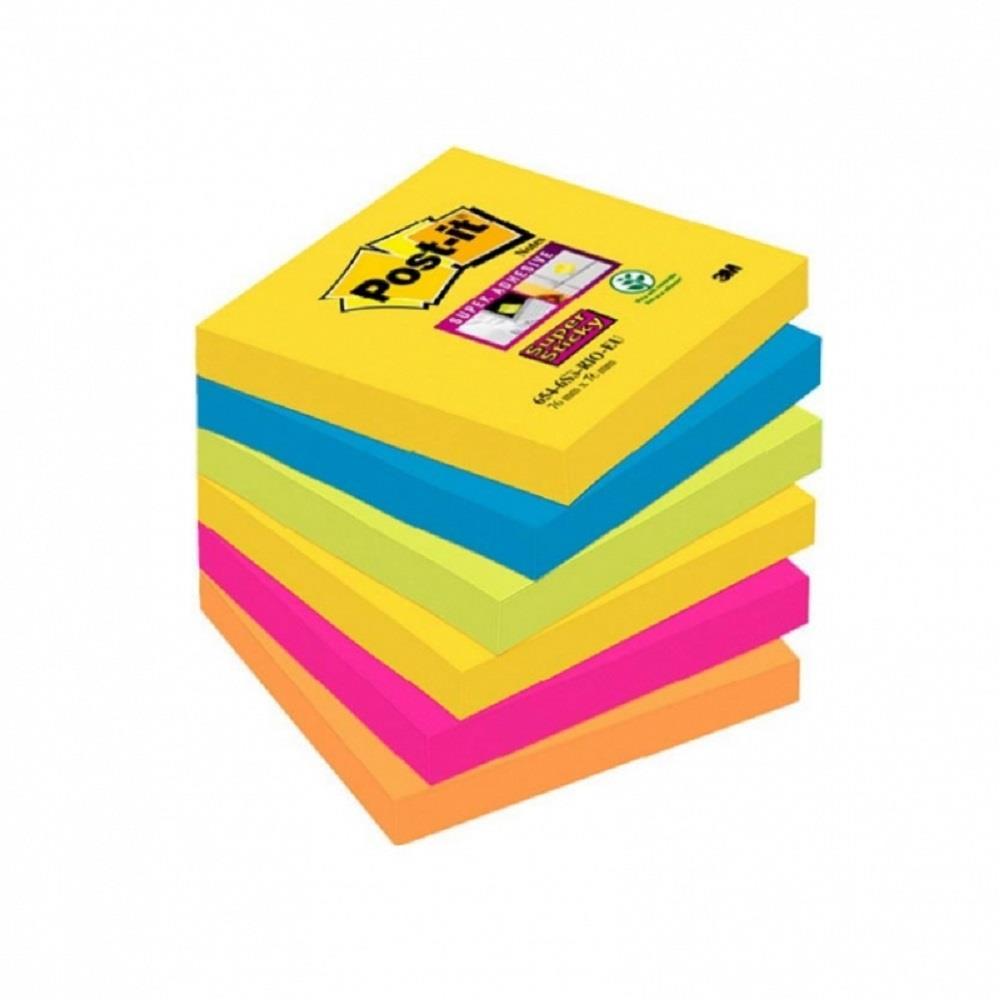Χαρτάκια Post-it 3M 76x76 6x90Φ 654-6SS-RIO