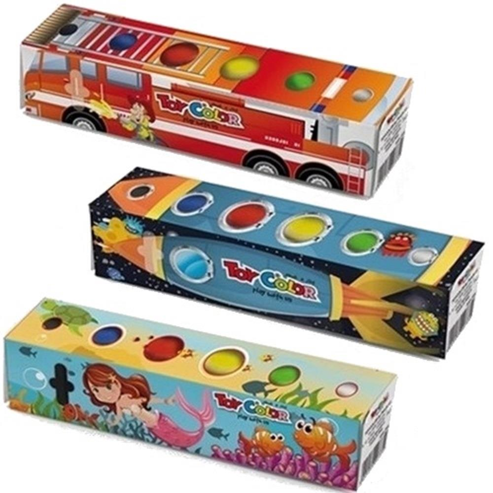 Δακτυλομπογιές Toy Color fantasy 6x25 ml