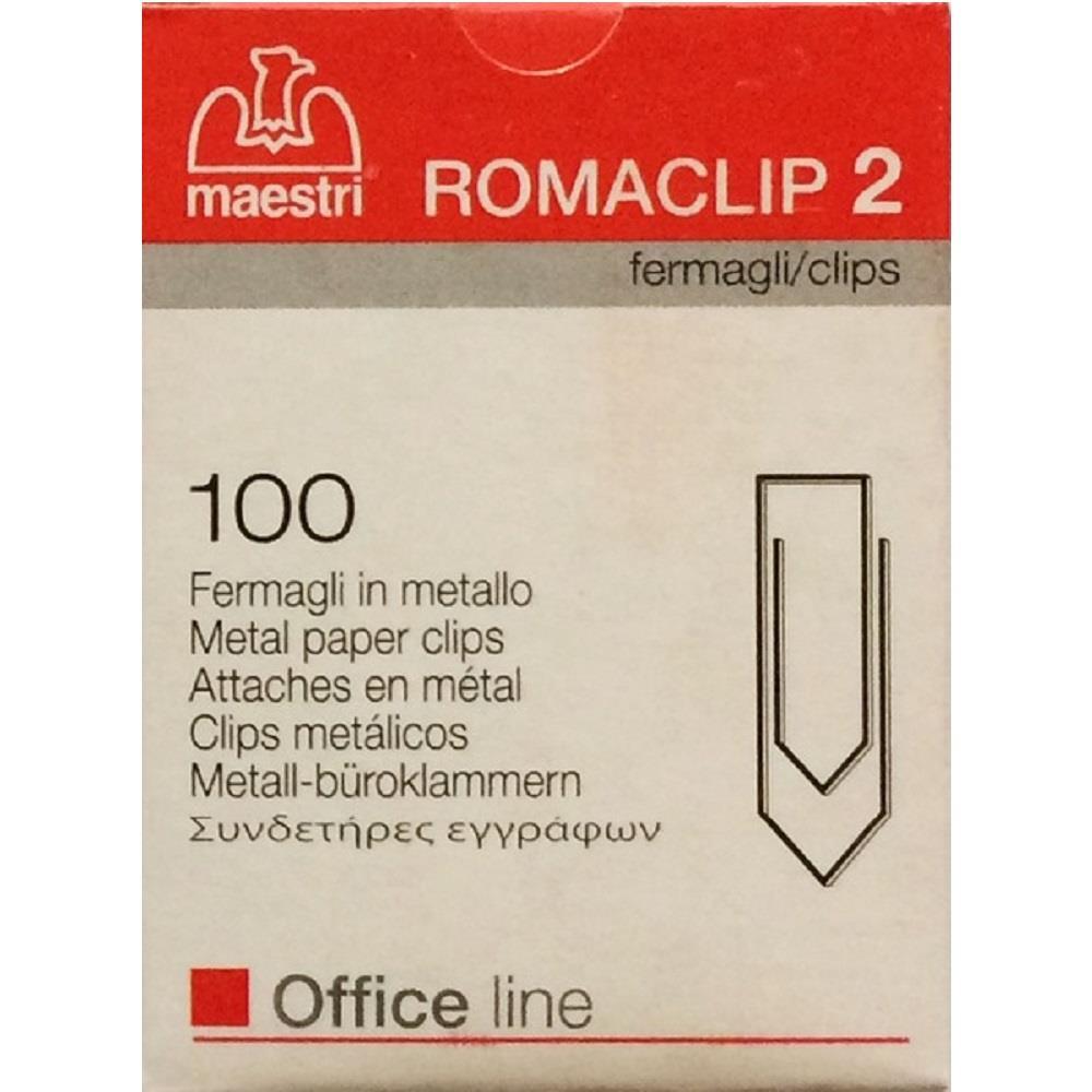 Συνδετήρες Romaclip Νο 2 μεταλλικοί Maestri