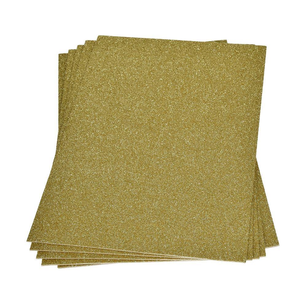 Χαρτί αφρώδες glitter Α4 χρυσό
