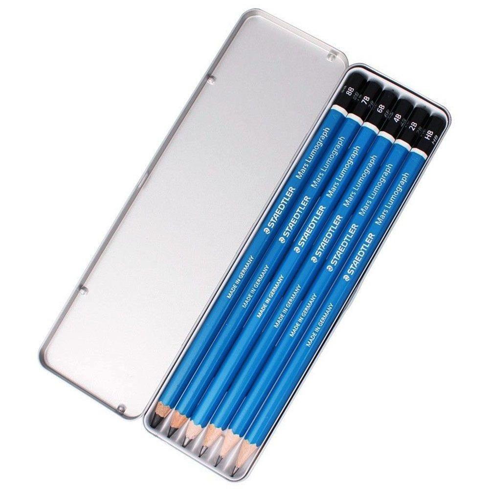 Σετ Staedtler 100 G6 μολύβια σχεδίου 6 τεμ. μεταλλική κασετίνα