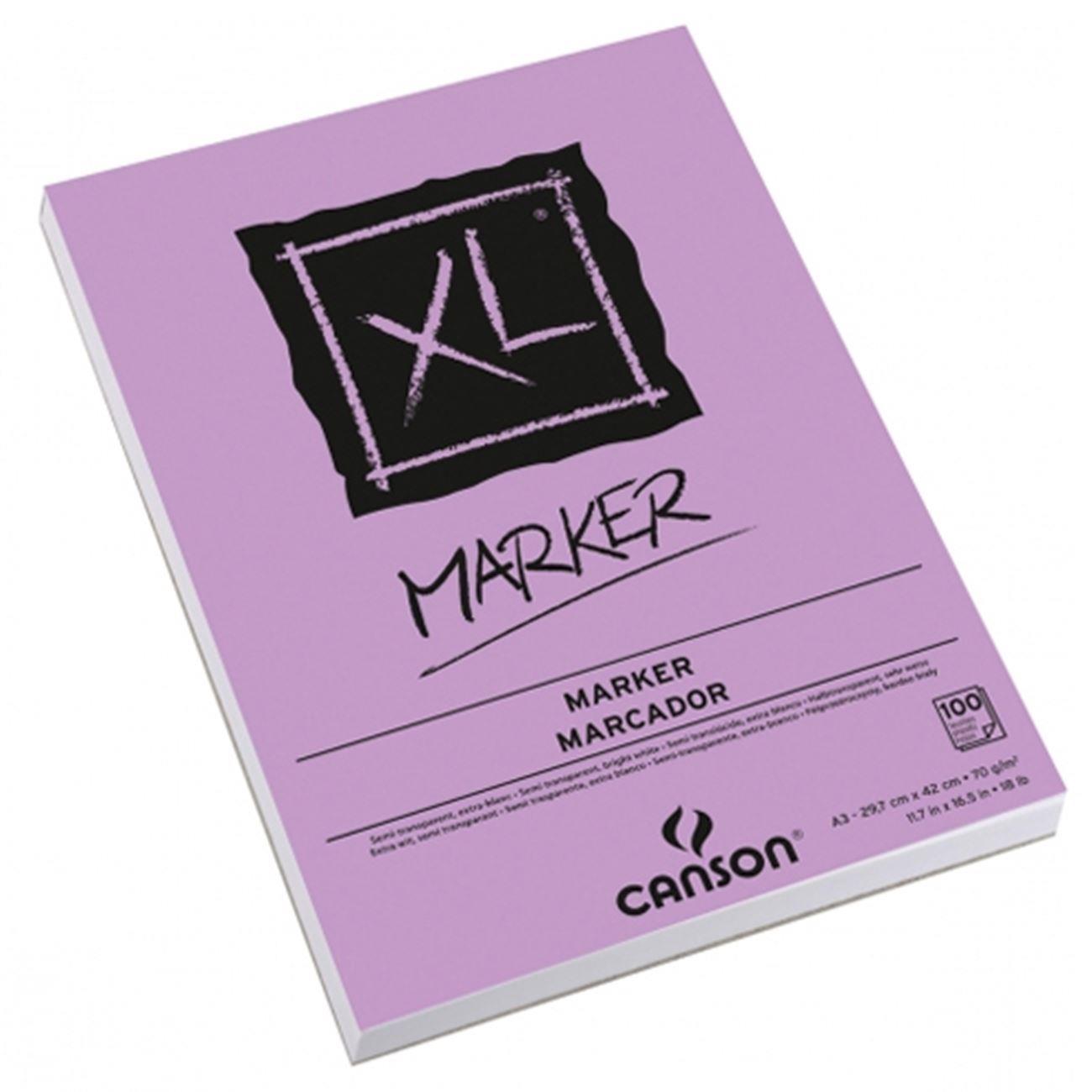 Μπλοκ Canson XL Marker A3 70gr 100 φύλλα