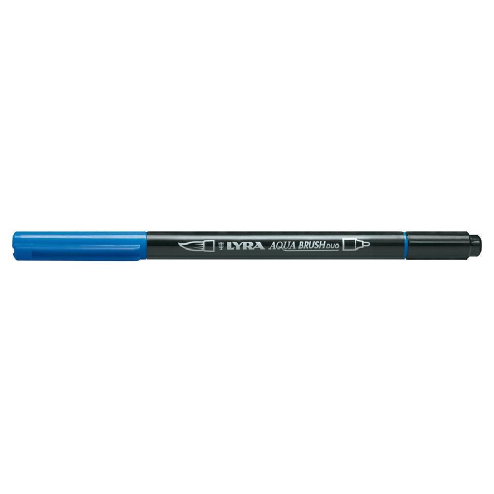Μαρκαδόρος πινέλο Lyra μπλε aqua brush duo 1-5 mm