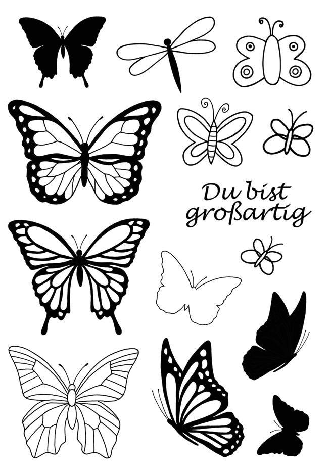 Στάμπες σφραγίδας Α7 butterflies 26