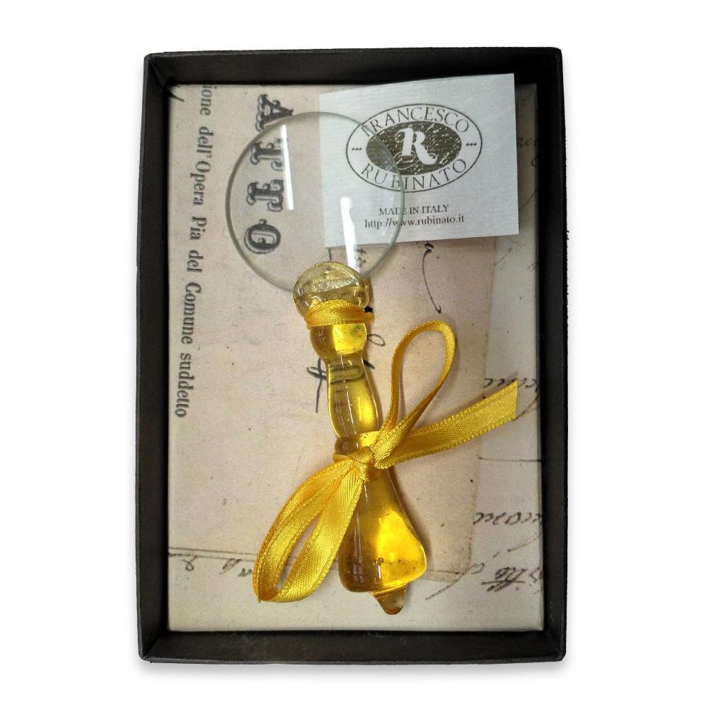 Μεγεθυντικός φακός γυάλινος Νο4 Rubinato κίτρινο
