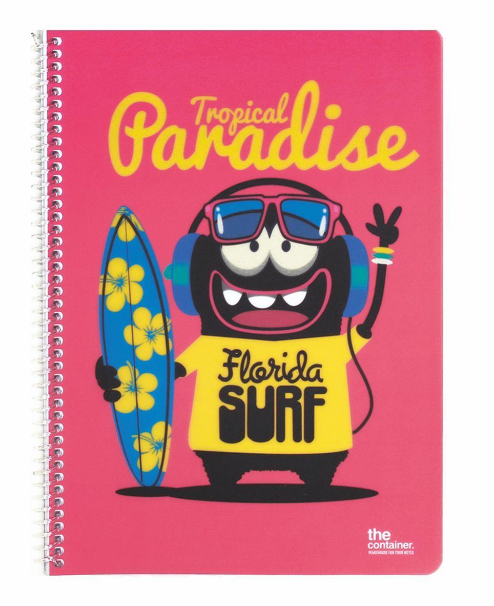 Τετράδιο σπιράλ Α4 Florida surfing 80φ ριγέ