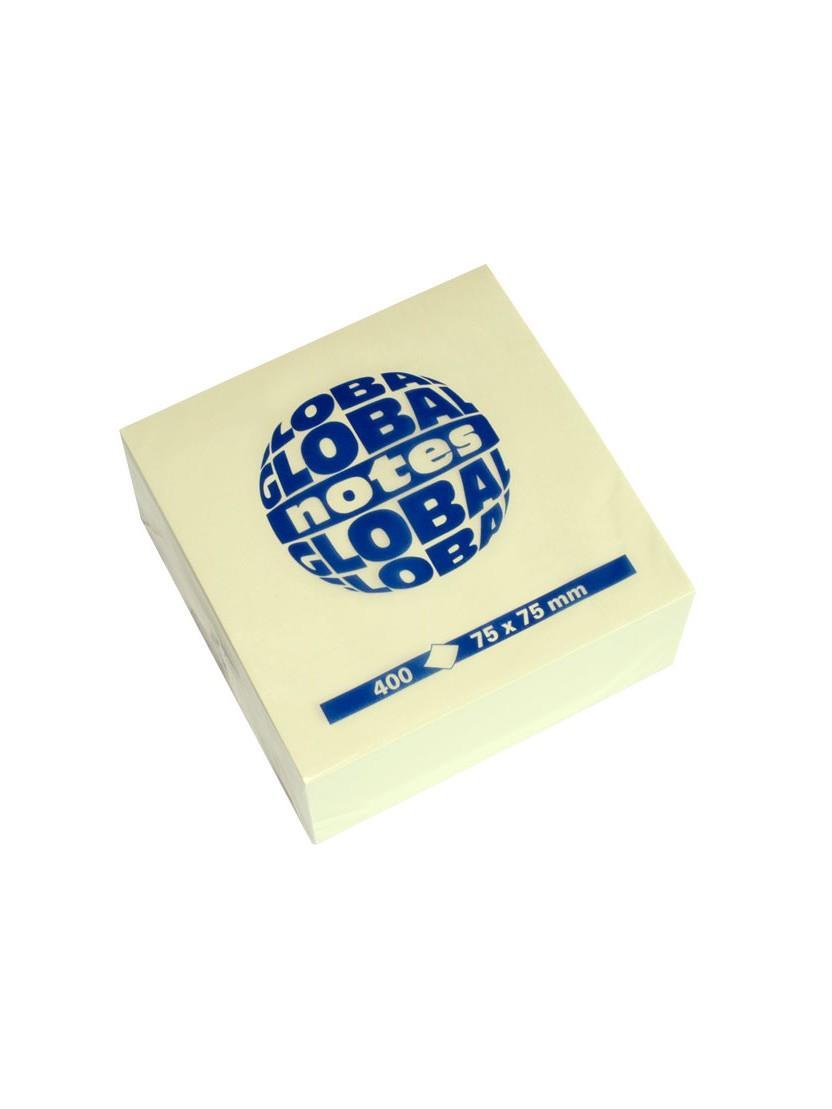 Χαρτάκια Global 75x75 400Φ κίτρινα