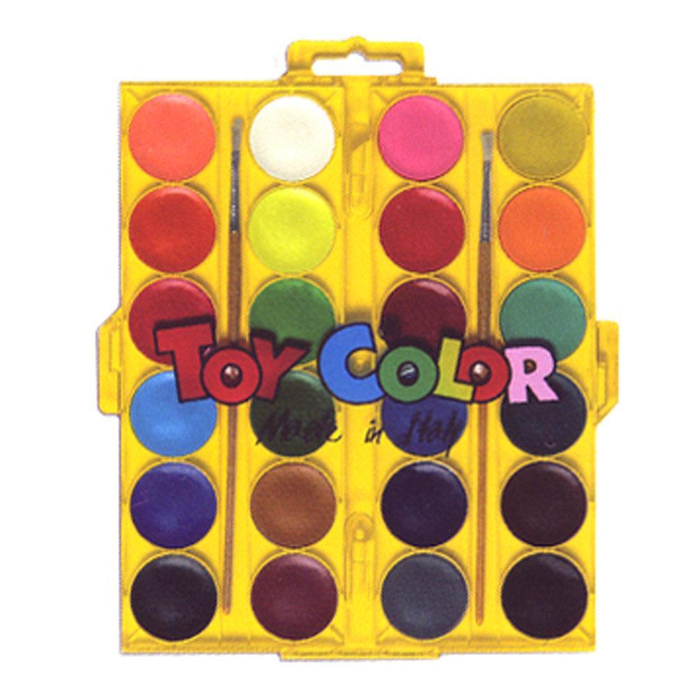 Νερομπογιές Toy Color με πινέλα 24 τεμ.