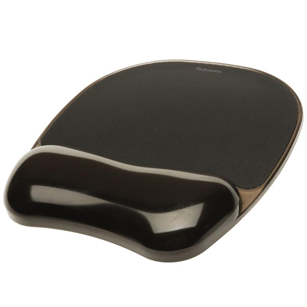 Mousepad Fellowes wrist support black crystal 9112101
