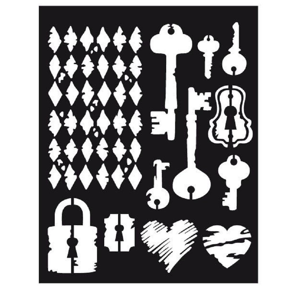 Στένσιλ Stamperia χοντρό 20x25 keys & locks