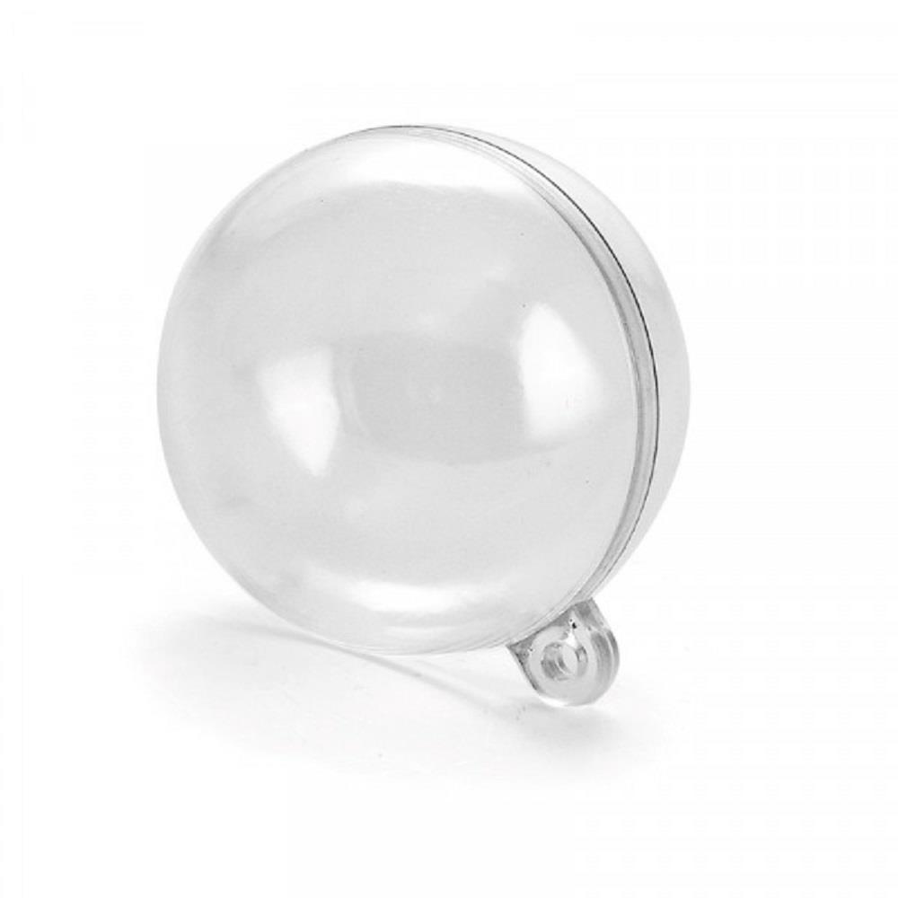 Μπάλα πλαστική διάφανη 80 mm