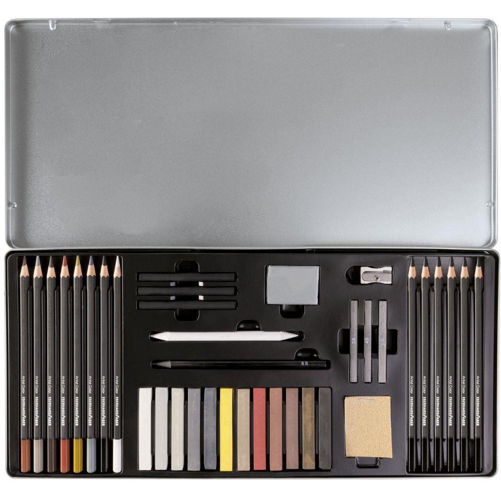 Σετ Eberhard Faber Artist Color 37 τεμ. 516937 μεταλλική κασετίνα
