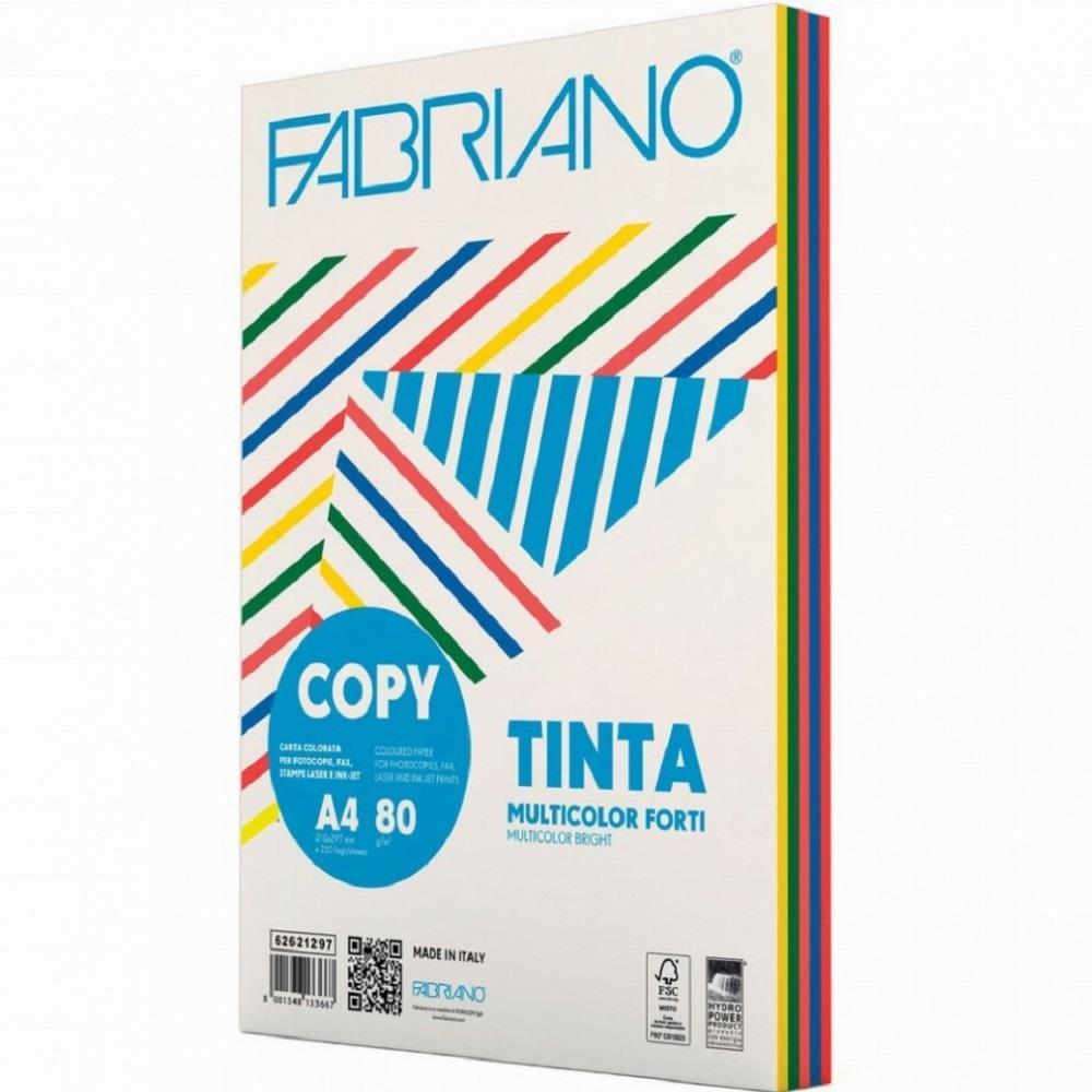 Χαρτί Α4 Fabriano 80gr 250φ μιξ έντονα