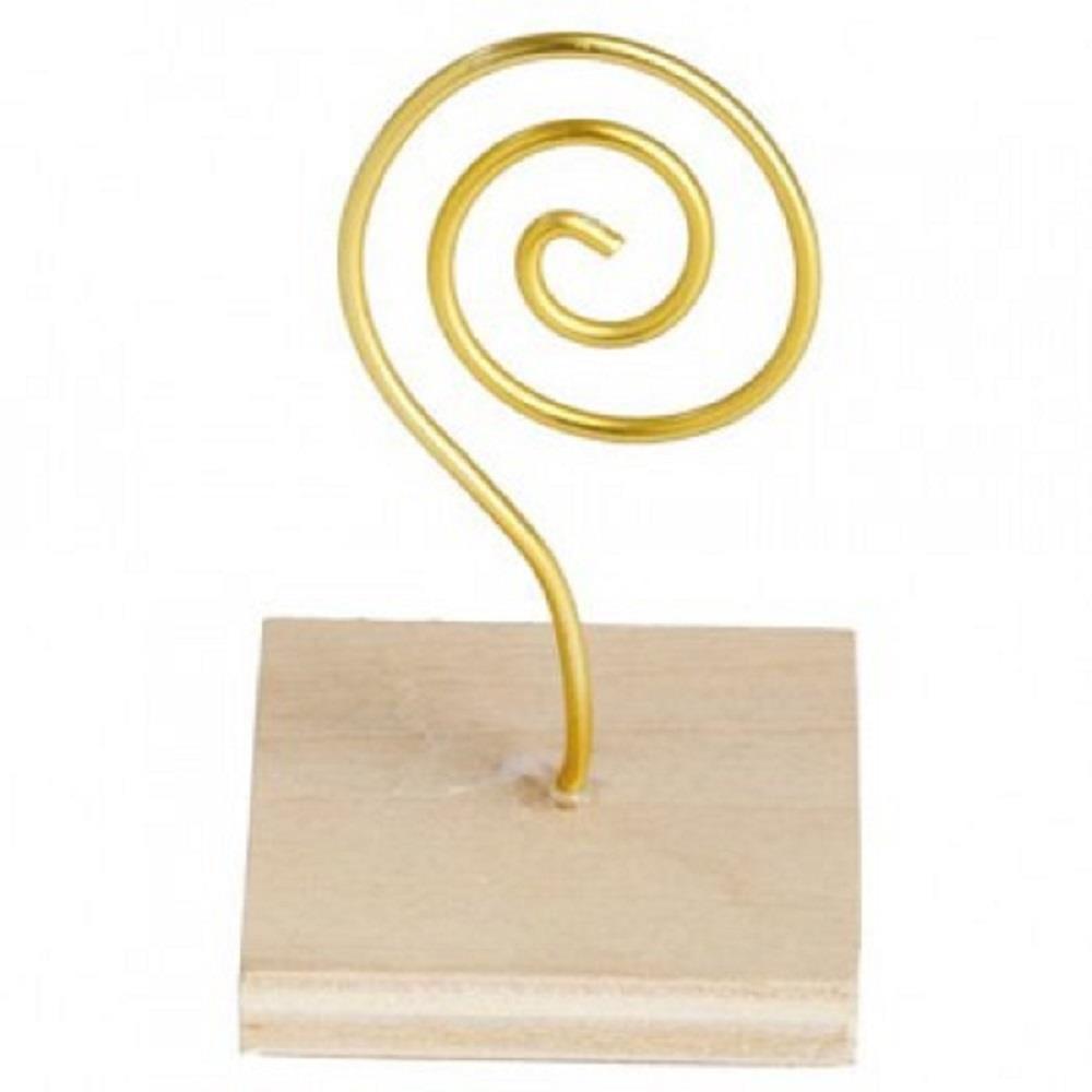 Κλιπ ξύλινη βάση 7 cm χρυσό