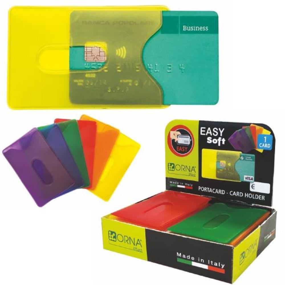Θήκη διάφανη κάρτας Orna χρωματιστή