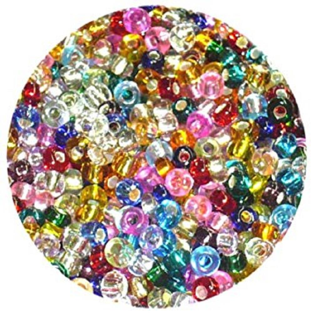 Χάντρες Efco 2,6 mm 17gr διάφανες χρωματιστές