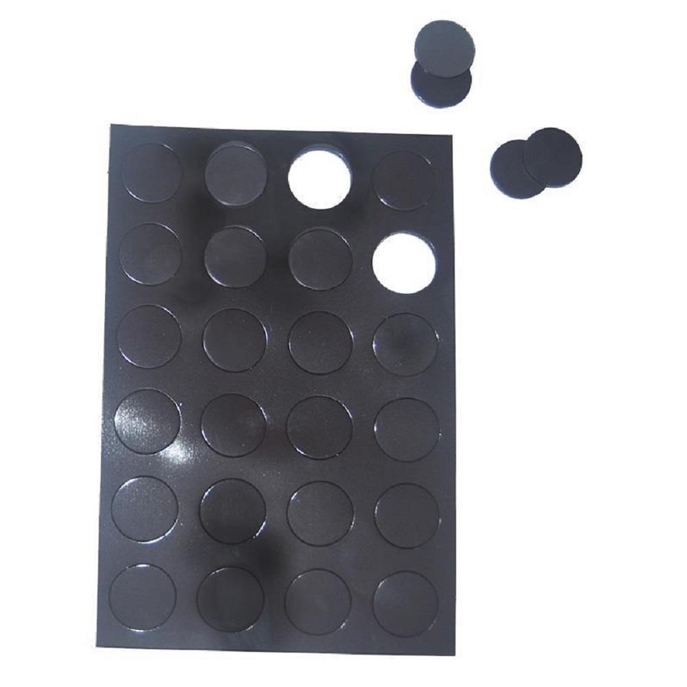 Μαγνήτες στρογγυλοί 14x2 mm καρτέλα 48 τεμ.